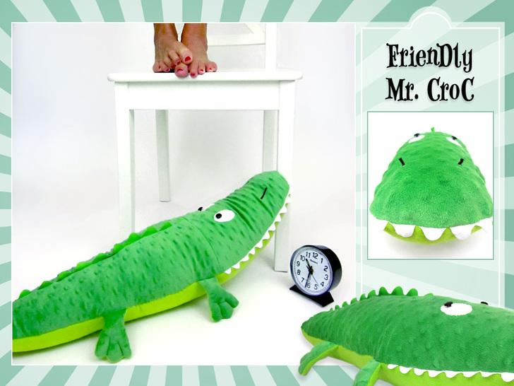 Darmowe wykroje krokodyl poduszka crocodile pillow